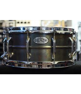 "Pearl Used Pearl Sensitone 6.5x14"" Patina Brass Snare Drum"