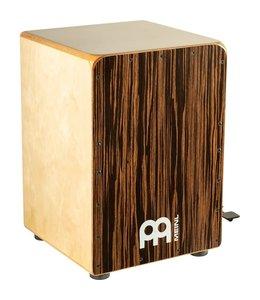 Meinl Meinl Ebony Bass Cajon with Snare Pedal, Ebony Frontplate