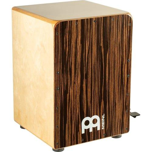 Meinl Meinl Ebony Bass Cajon w/ Snare Pedal, Ebony Frontplate
