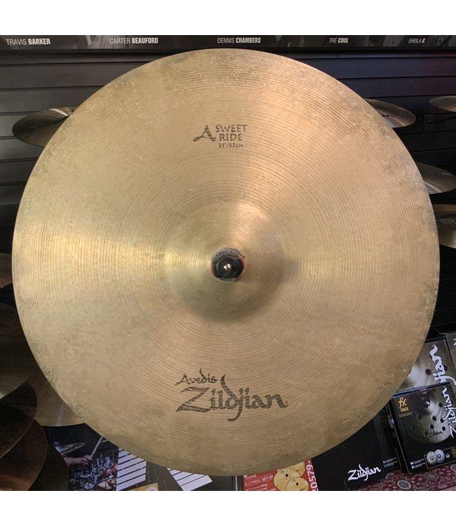 """Zildjian Used Zildjian 21"""" A Sweet Ride"""