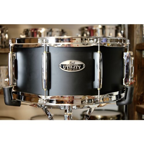 "Pearl Pearl Modern Utility 6.5x14"" Satin Black Maple Snare Drum"