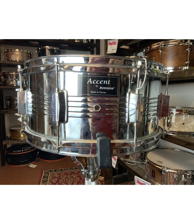 "Ludwig Used Ludwig Accent 6.5""x14"" Steel Snare Drum"