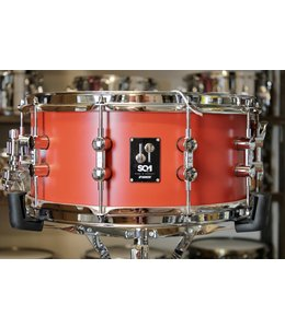 "Sonor Used Sonor SQ1 6.5x14"" Snare Drum - Hot Rod Red"