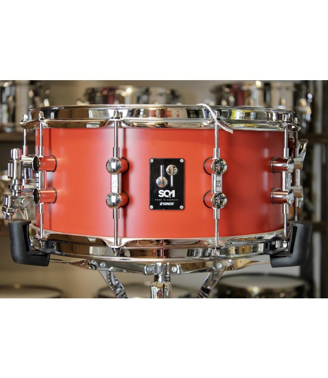 """Sonor Used Sonor SQ1 6.5x14"""" Snare Drum - Hot Rod Red"""