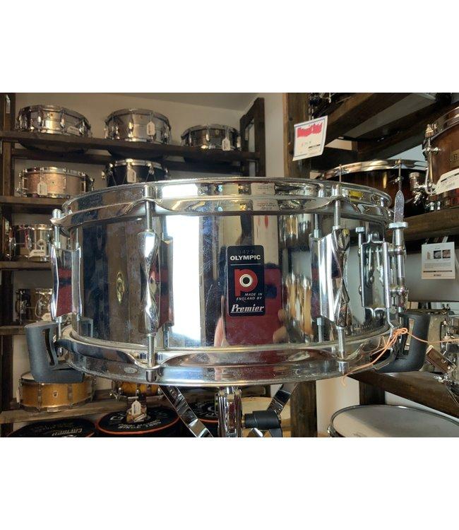 Vintage Premier Olympic 5x14 80's Steel Snare Drum