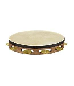 Meinl Meinl Headed Vintage Wood Tambourine Hammered Brass Jingles1 Row Walnut Brown