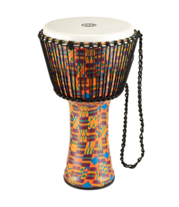 "Meinl Meinl Rope-Tuned Travel Series 14"" Djembe in Kenyan Quilt w/ Synthetic Head"