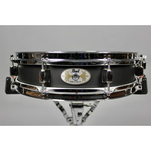 Pearl Pearl 13x3 in Steel Piccolo Black Lacquer Shell Snare Drum