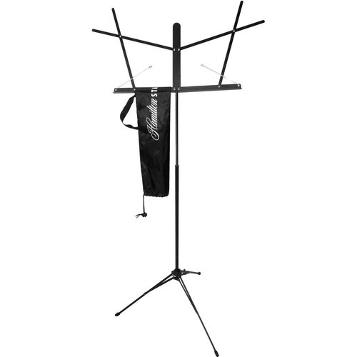 Hamilton Stands Automatic Clutch Folding Sheet Music Stand With Carrying Bag