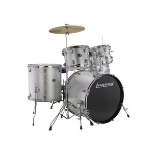 Ludwig Ludwig Accent Fuse 5pc Drum Set Silver