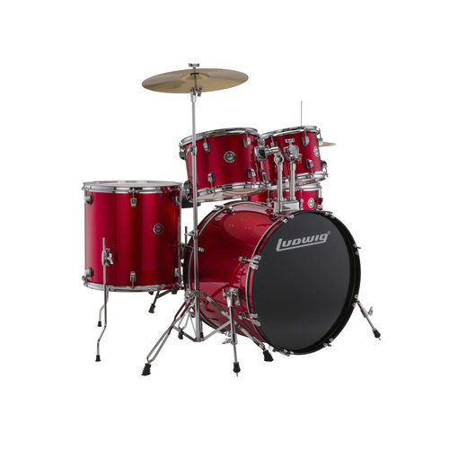 Ludwig Ludwig Accent Fuse 5pc Drum Set Red