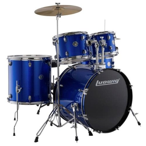 Ludwig Ludwig Accent Fuse 5pc Drum Set Blue