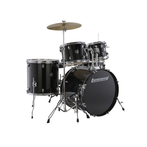 Ludwig Ludwig Accent Fuse 5pc Drum Set Black