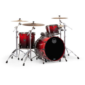 Mapex Mapex Saturn V Exotic Rock 3 Piece Shell Pack w/o Snare Cherry Mist Maple Burl