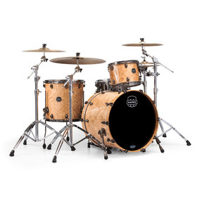 Mapex Mapex Saturn V Exotic Rock 3 Piece Shell Pack w/o Snare Natural Maple Burl