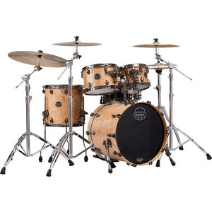 "Mapex Mapex Saturn V Exotic Fusion 4 Piece 20"" Shell Pack w/o Snare Cherry Mist Maple Burl"