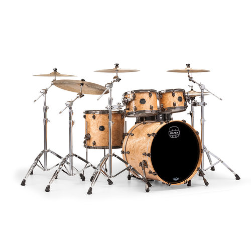 Mapex Mapex Saturn V Exotic Rock 4 Piece Shell Pack w/o Snare Natural Maple Burl