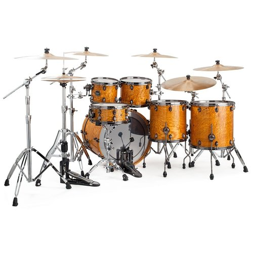Mapex Mapex Saturn V Exotic Studioease 5 Piece Shell Pack w/o Snare Natural Maple Burl
