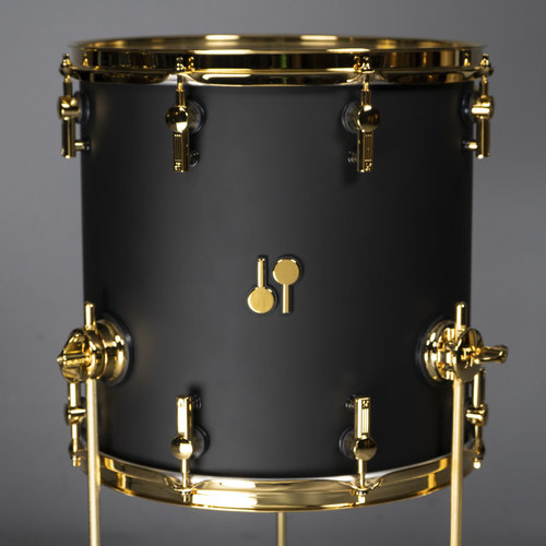 Sonor Sonor SQ2 Medium Beech 6pc Shell Pack-Dark Satin w/ Gold Hardware