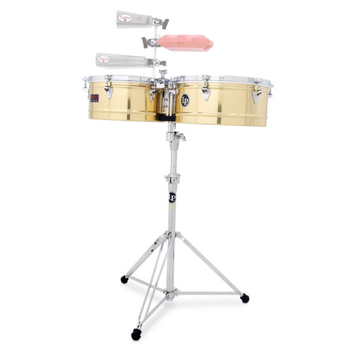 "LP LP  13"" and 14"" Prestige Timbales - Brass"
