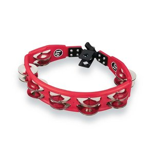 LP LP yclops Mounted Tambourine - Red with Steel Jingles