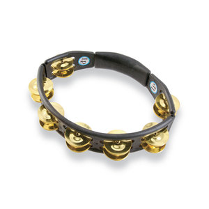 LP Cyclops Handheld Tambourine - Black with Brass Jingles