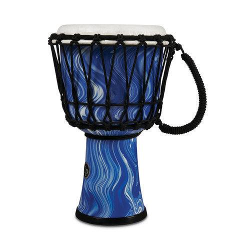 "LP LP 10"" Rope Tuned Circle Djembe with Perfect-Pitch head - Blue Marble"