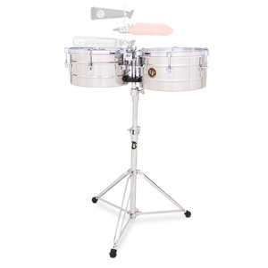 """LP LP 12"""" and 13"""" Tito Puente Timbales - Stainless Steel"""