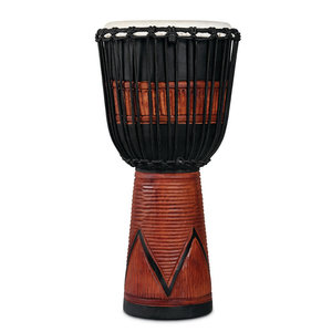LP LP World Beat Wood Art Large Djembe, Black