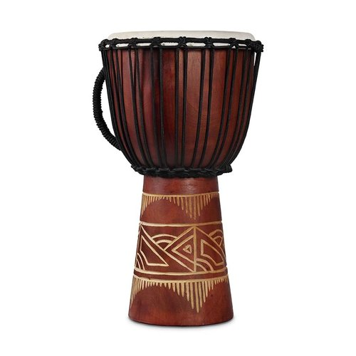 LP LP World Beat Wood Art Medium Djembe, Red