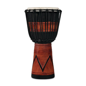 LP LP World Beat Wood Art Medium Djembe, Black