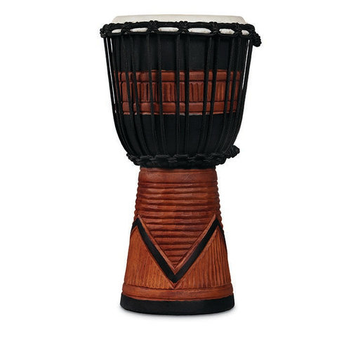 LP LP World Beat Wood Art Small Djembe, Black