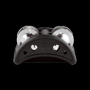 Meinl Meinl Compact Foot Tambourine Plastic w/ Steel Jingles,, Black