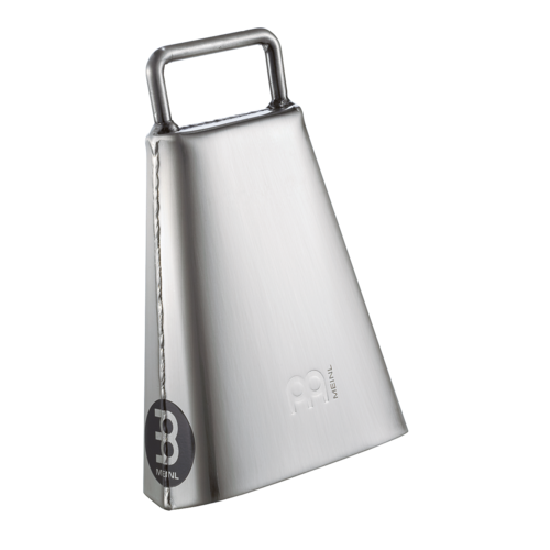 "Meinl Meinl Handheld 6 1/4"" Hand Brushed Steel Finish Cowbell"
