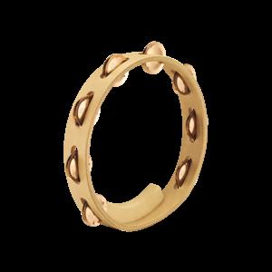 Meinl Meinl Artisan Wood Tambourine Cymbal Bronze Jingles Single Row Maple Frame
