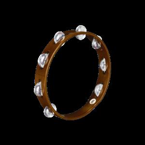 "Meinl Meinl 10"" Wood Tambourine Aluminum Jingles 1 Row African Brown"
