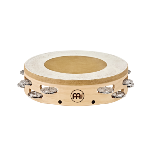 "Meinl Meinl 10"" Headed Artisan Edition Tambourine 2 Rows, Steel Jingles"