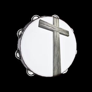 "Meinl Meinl 10"" Gospel Praise & Worship 1 Row Tambourine  Cross Image"