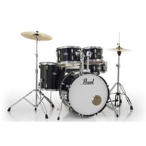 "Pearl Pearl Roadshow 5pc Drumset w/20"" Bass Drum  Jet Black"