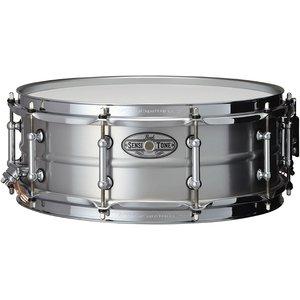 "Pearl Pearl 5 x 14"" Sensitone Beaded Aluminum w/ Clear Lacquer Finish Snare Drum"
