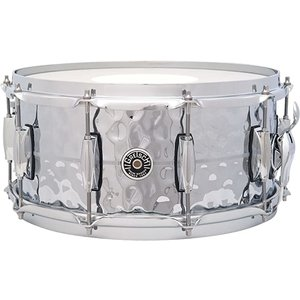 "Gretsch Gretsch 6.5X14"" Brooklyn Hammered Chrome Over Brass Snare Drum"