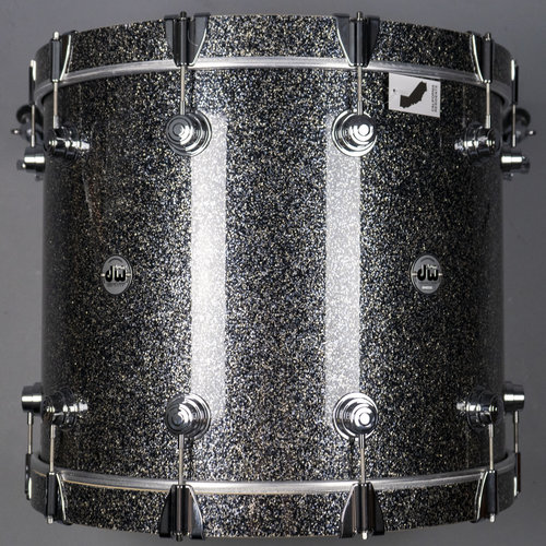 DW DW Collectors Maple 4pc Shell Pack - Black Galaxy w/ Chrome Hardware