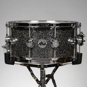 "DW DW Collectors Maple 6.5x14"" Snare Drum - Black Galaxy w/ Chrome Hardware"