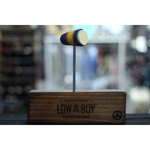 Low Boy Low Boy Felt Daddy - Multi-Color Stained w/ Painted Stripes
