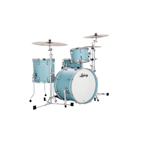 Ludwig Ludwig Neusonic Downbeat 3pc Shell Pack Skyline Blue