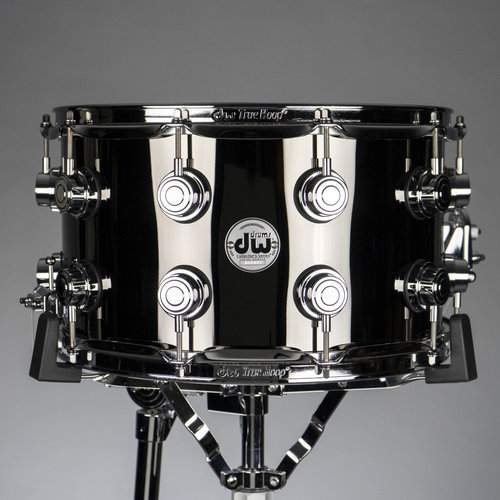 """DW DW Collector's Black Nickel Over Brass 8""""x14"""" Snare Drum (B-Stock)"""