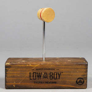 Low Boy Low Boy Engraved Lightweight Wood - Natural w/ Red Stripe - Rupp's Logo