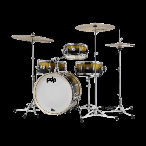 PDP PDP Daru Jones Drum Kit w/Bags & 6000 Hardware, Yellow-Black