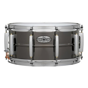 """Pearl Pearl SensiTone Heritage Alloy 6.5x14"""" Black Nickel-over-Brass 1mm Snare Drum"""