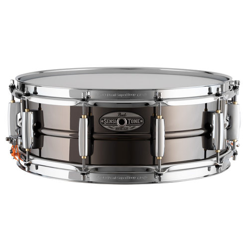 """Pearl Pearl SensiTone Heritage Alloy 14""""x5"""" Black Nickel-over-Brass 1mm Snare Drum"""